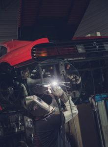 preparation chassis-vehicule-de-collection-à-la-baule